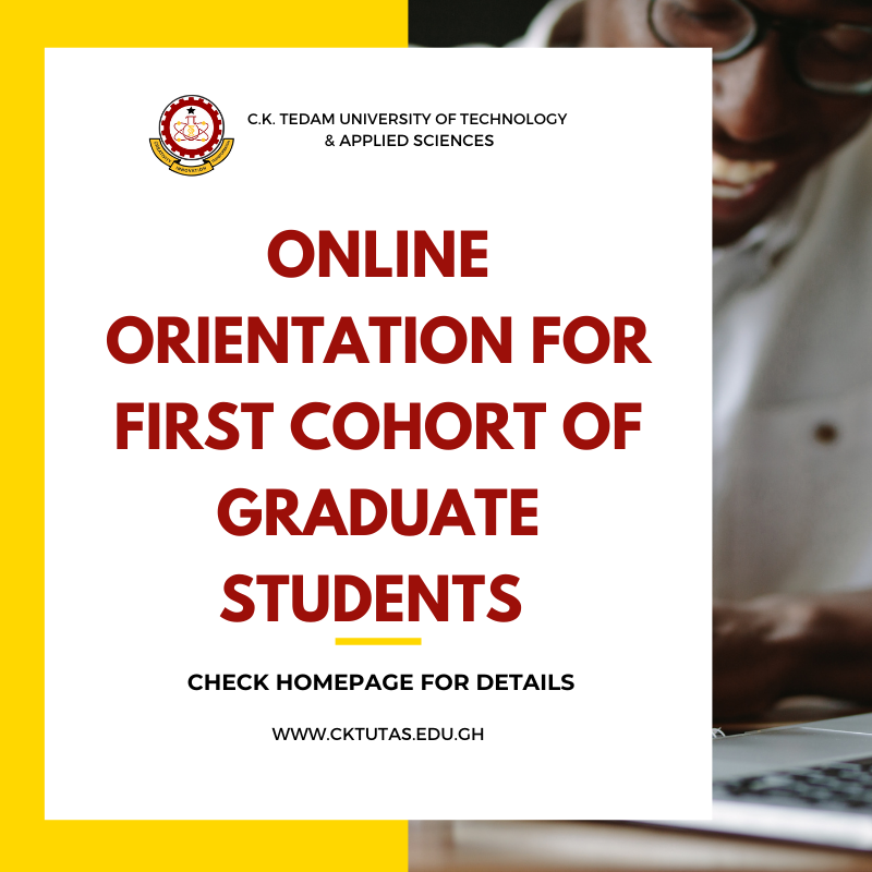 Online Orientation for First Cohort of Graduate Students