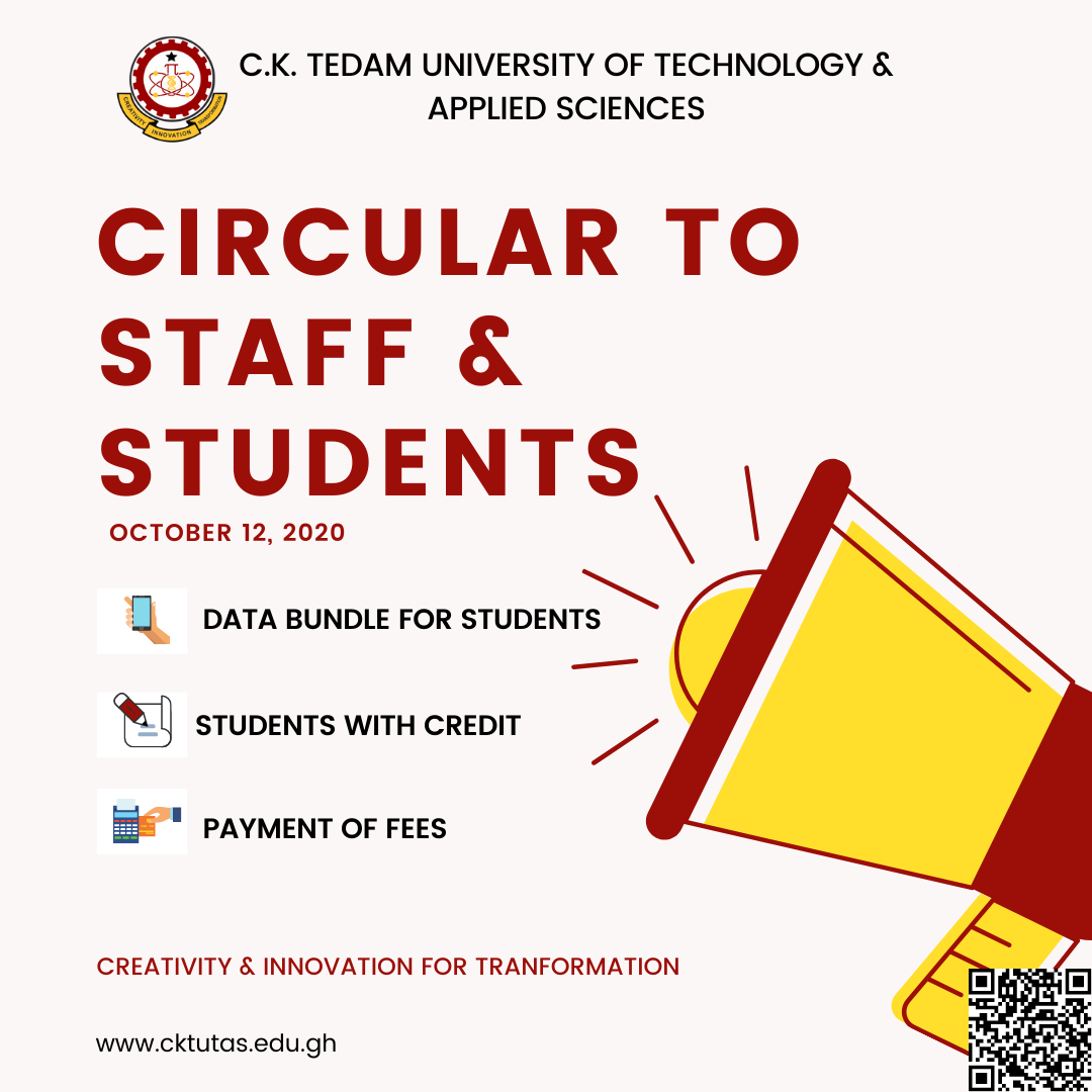 Circular to Staff and Students