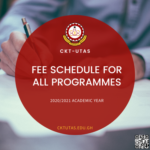 Fee Schedule for all Programmes 2020/2021