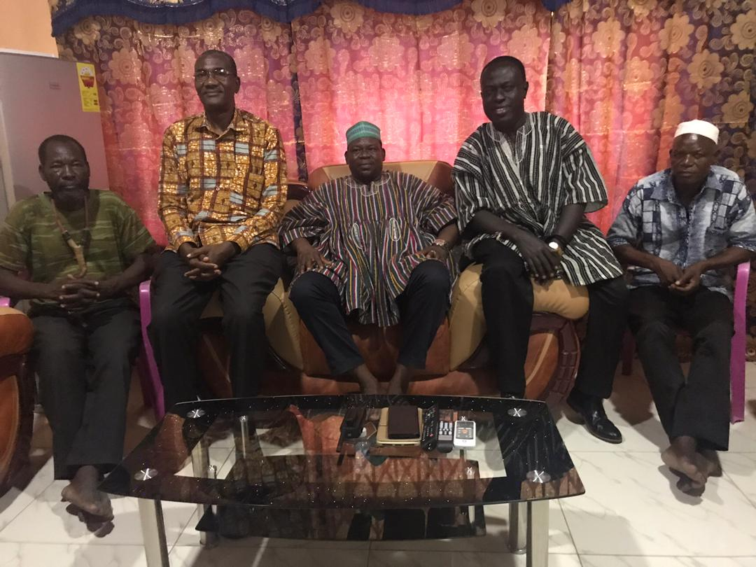 VC of CKT-UTAS Paid a Courtesy Call on the Paramount chief of Paga and Kologo Traditional Area